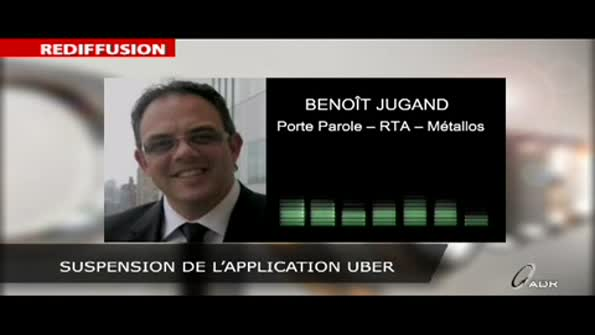 Suspension de l'application Uber